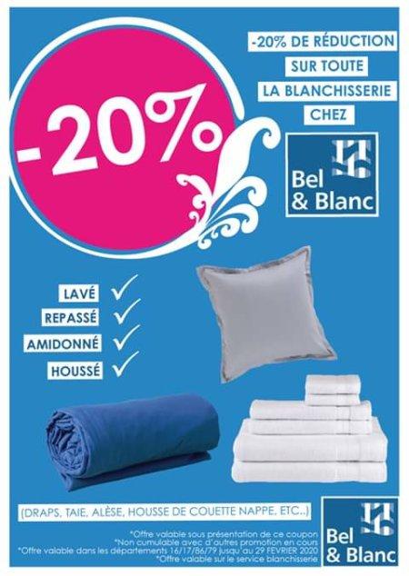 -20% BLANCHISSERIE (Housse de Couette)